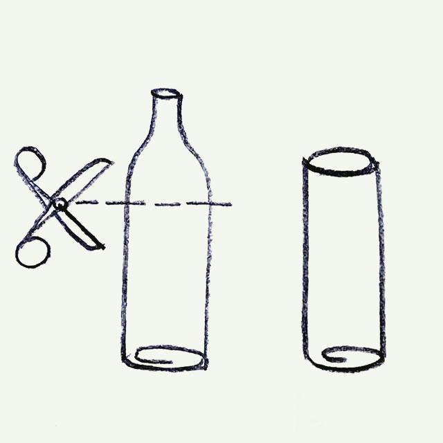 Abnormal vodka bottle design sketch