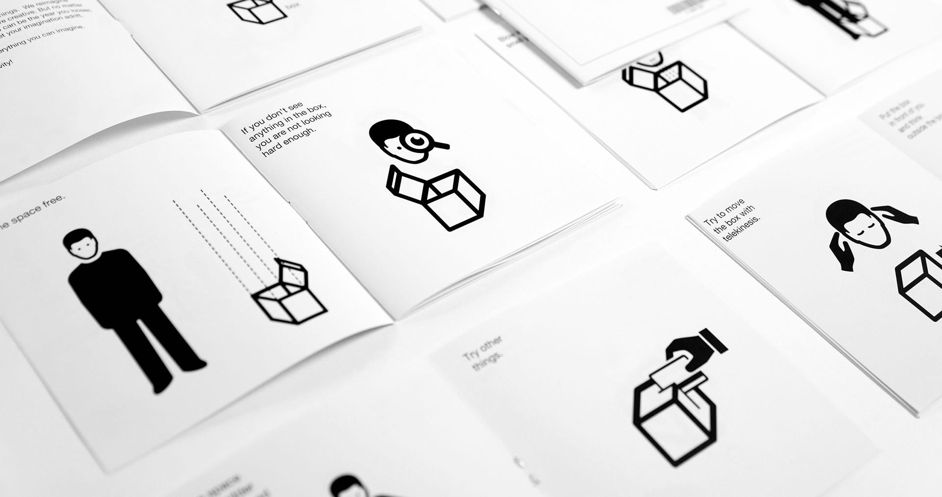 Nonobject's empty box instruction manual illustrations