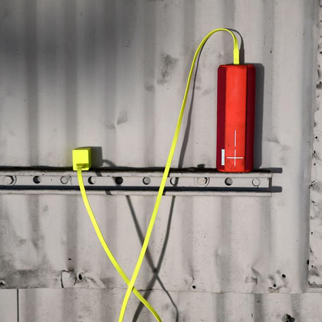 UE Boom portable speaker upside down charging