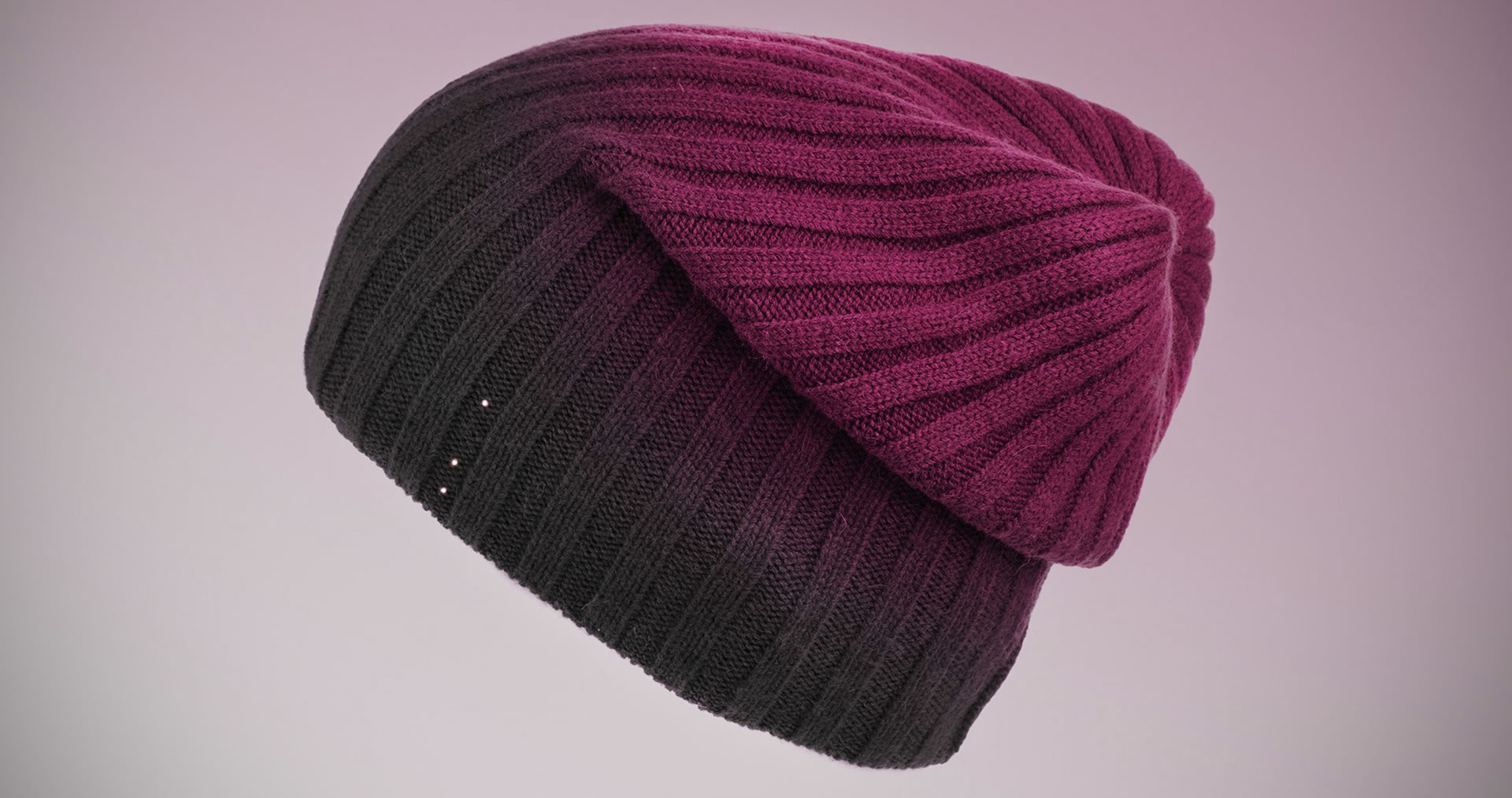 "VR purple beanie - ""post technological"" solutions that are more human"