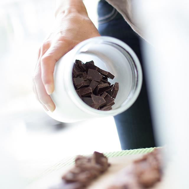 The Chocolate Garage tasting setup