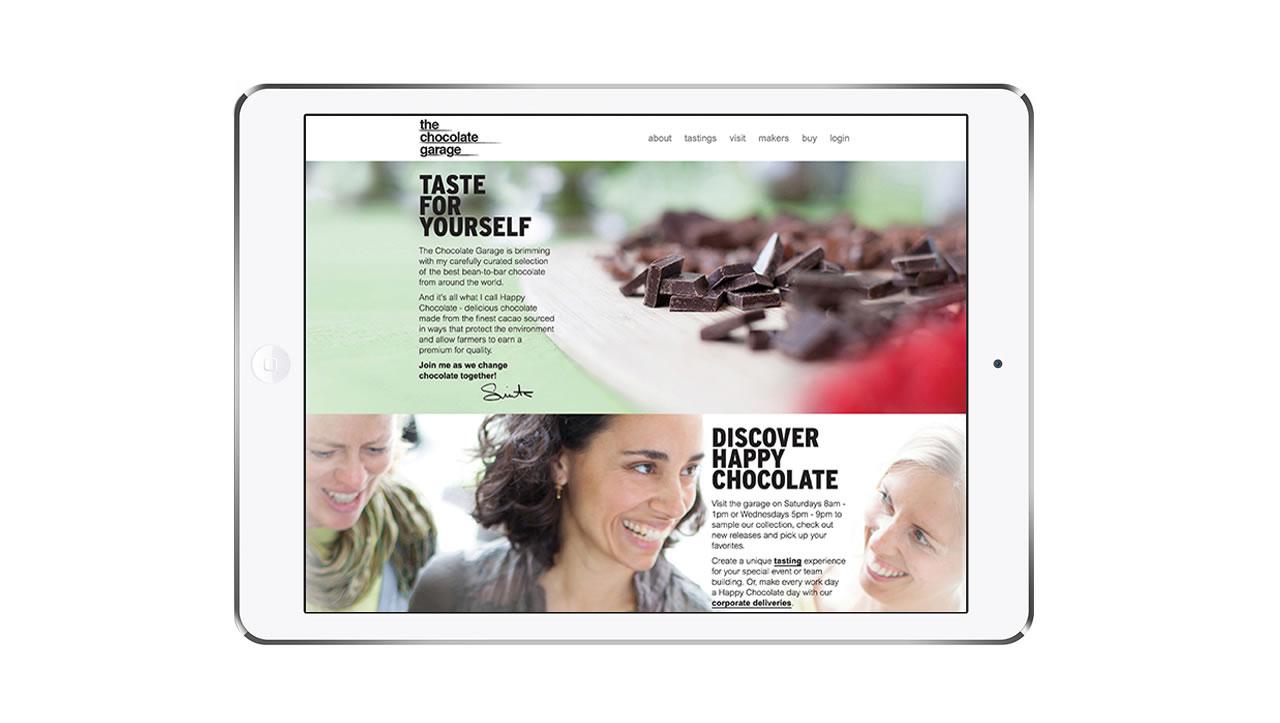 The Chocolate Garage website design