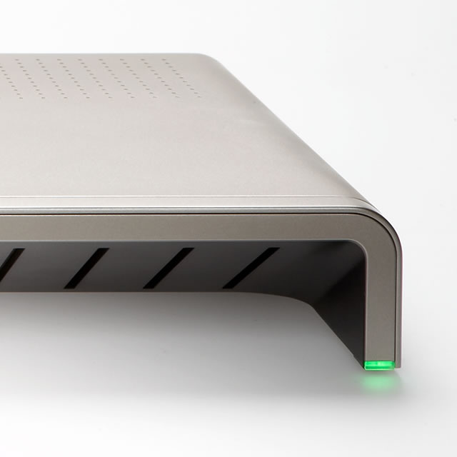 DVDO Edge HD video processor design detail with green light