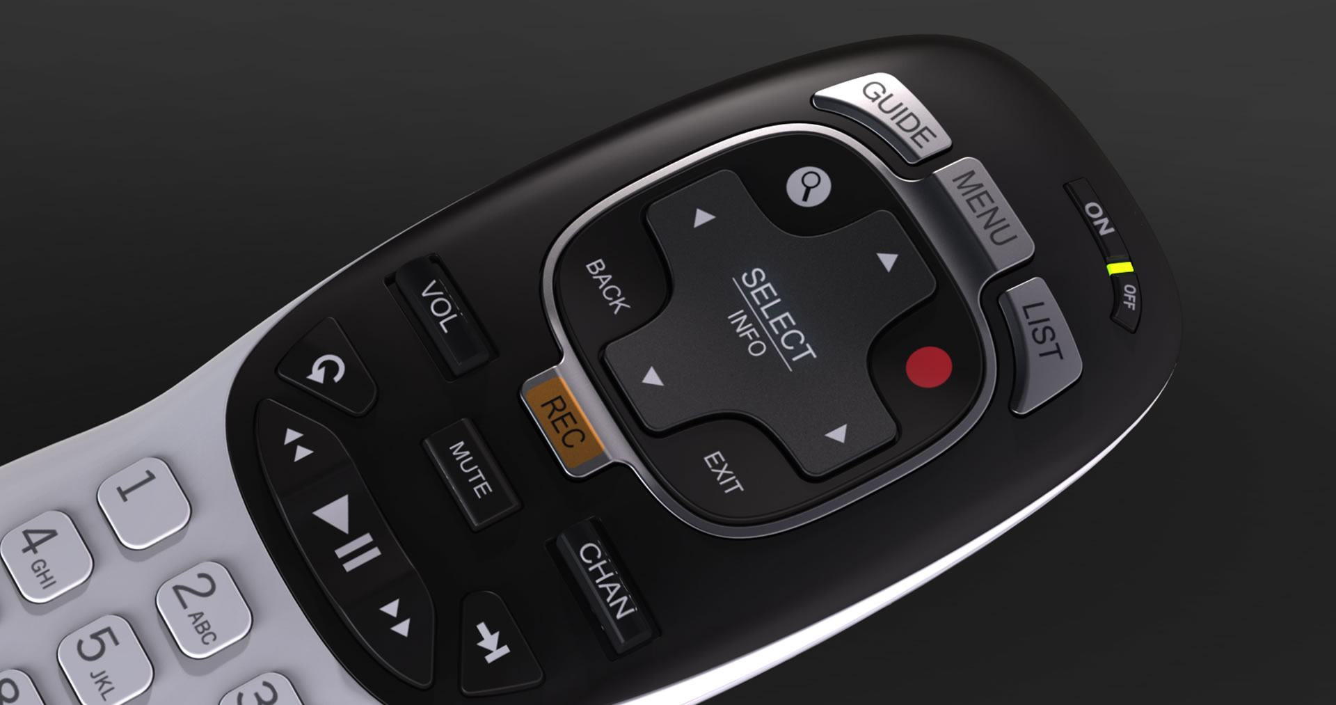 DirecTv remote control buttons detail