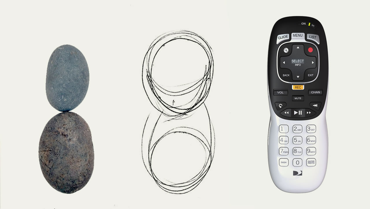 DirecTv remote control design inspired by pebbles