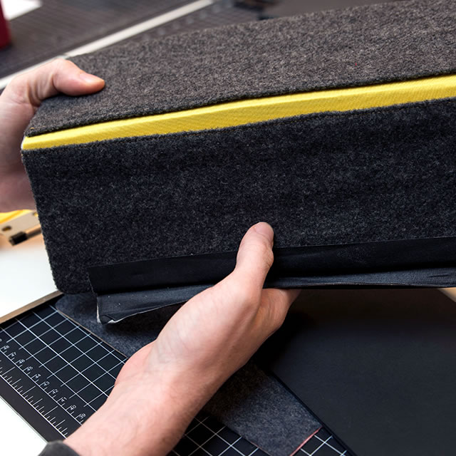 Logitech AnyAngle iPad case fabric prototype
