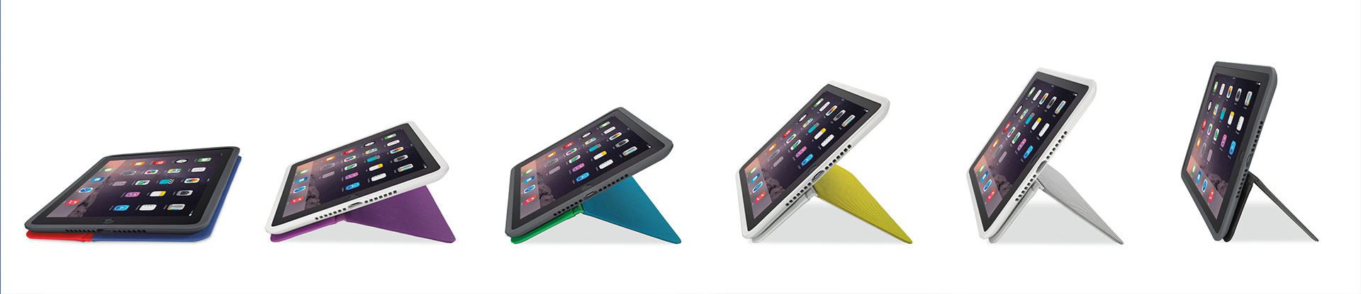 Logitech AnyAngle iPad case different angles