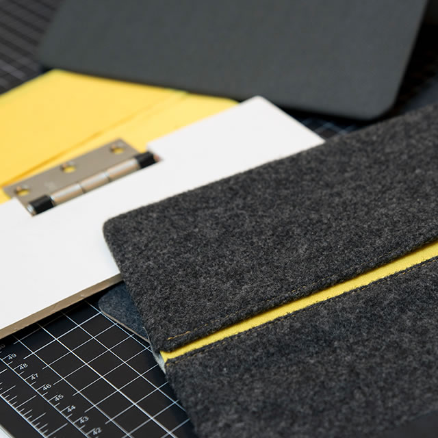 Logitech AnyAngle iPad case prototype materials