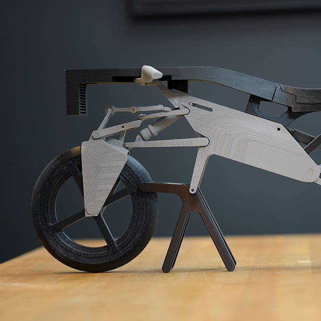Nucleus electric motorcycle 3D printed model