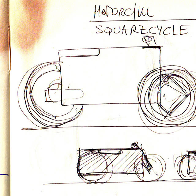 Nucleus electric motorcycle design sketches