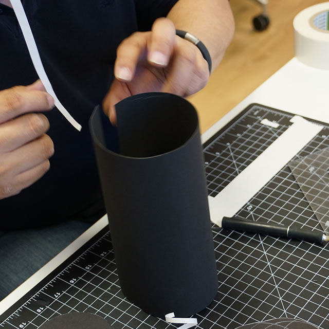 UE Boom portable speaker packaging prototyping