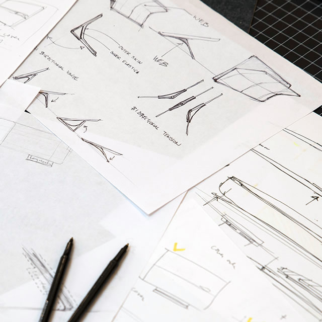 Logitech AnyAngle iPad case hinge sketches