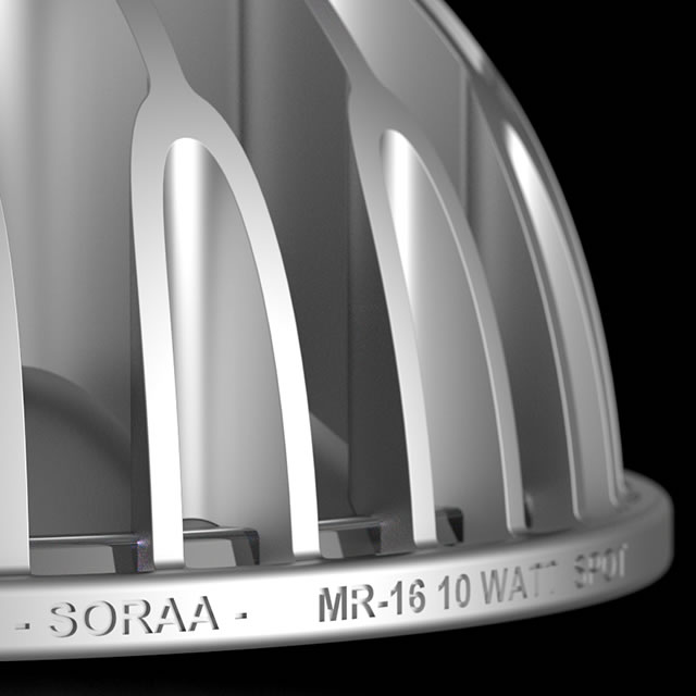 Soraa MR16 LED lamp design detail
