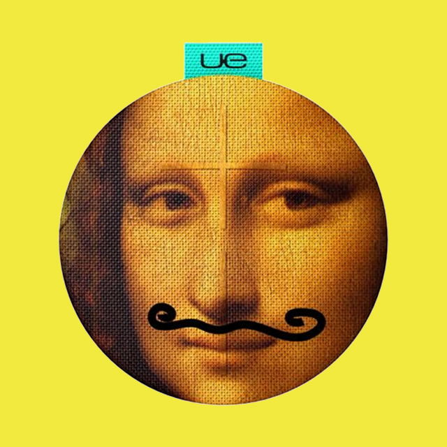 UE Roll portable speaker with Mona Lisa print