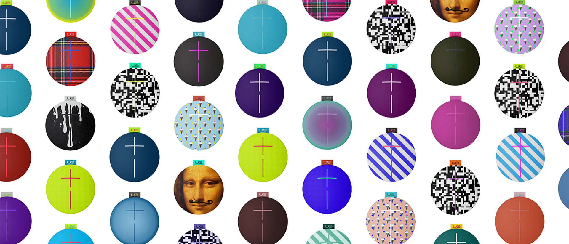 UE Roll mobile speakers fabric patterns and prints