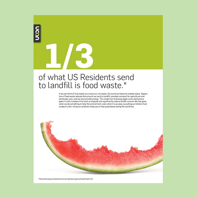 Untrash composting educational flyer