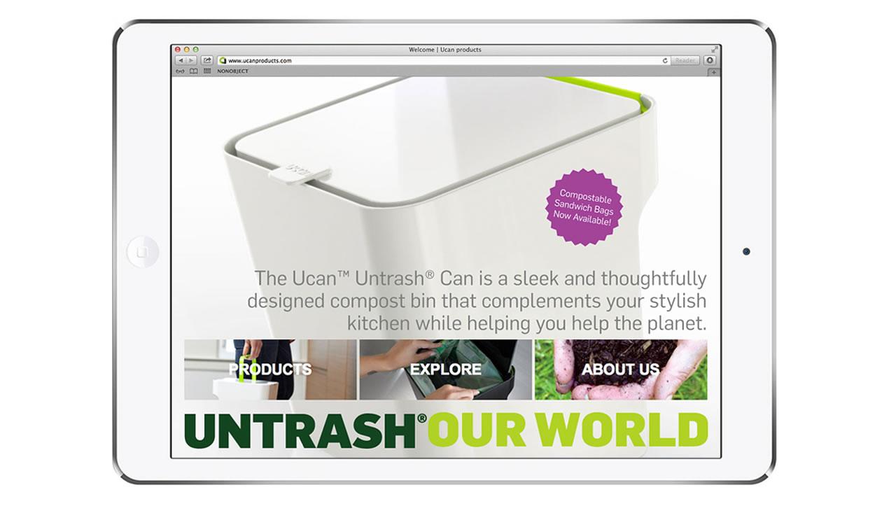 Untrash website design