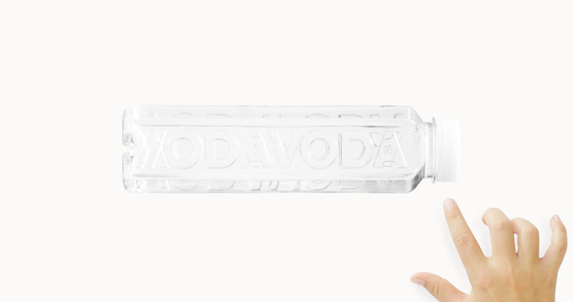 Vodavoda water bottle embossed logo