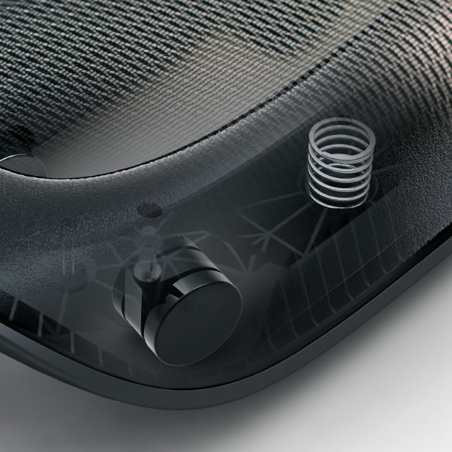 Webble active footrest mechanical detail