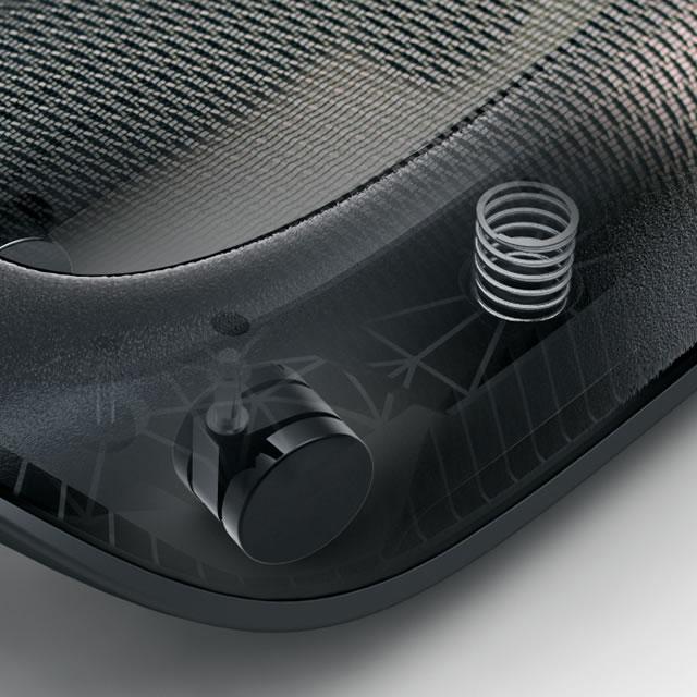Webble active footrest mechanical detail
