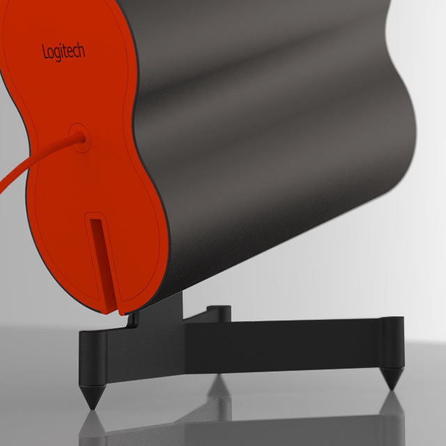 Logitech Z553 gaming speaker red back