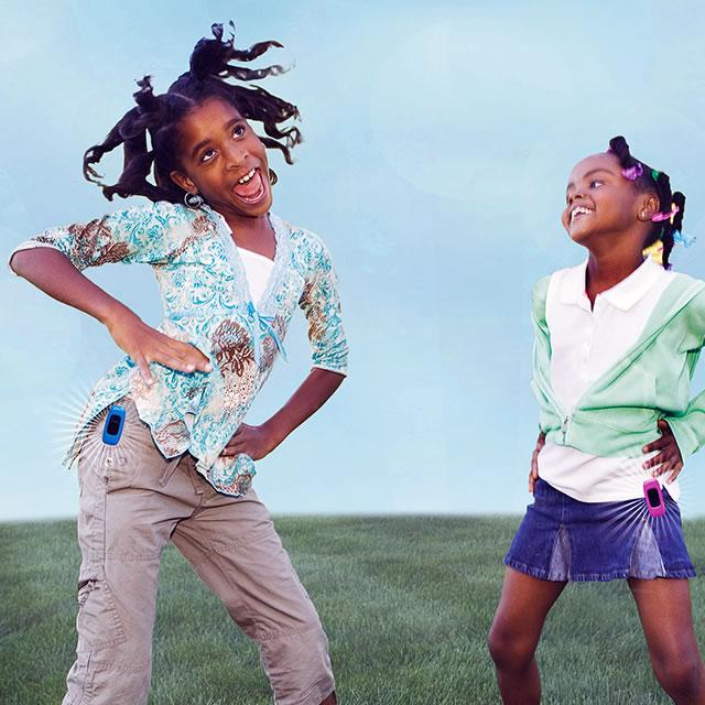 Zamzee wearable activity tracker with dancing girls