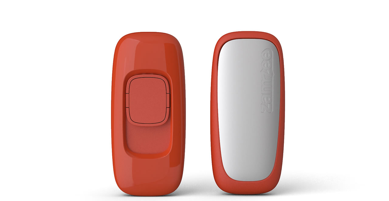 Zamzee wearable activity tracker front and back views
