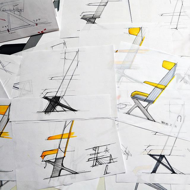 AirCom Pacific airplane seats sketch