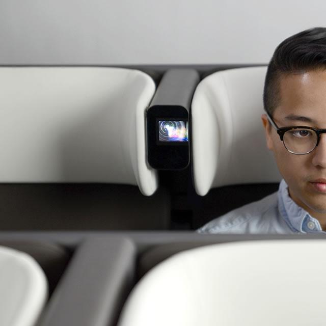 AirCom Pacific airplane seat headrest design