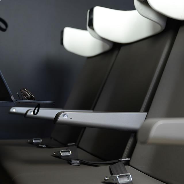 AirCom Pacific airplane seats armrest design