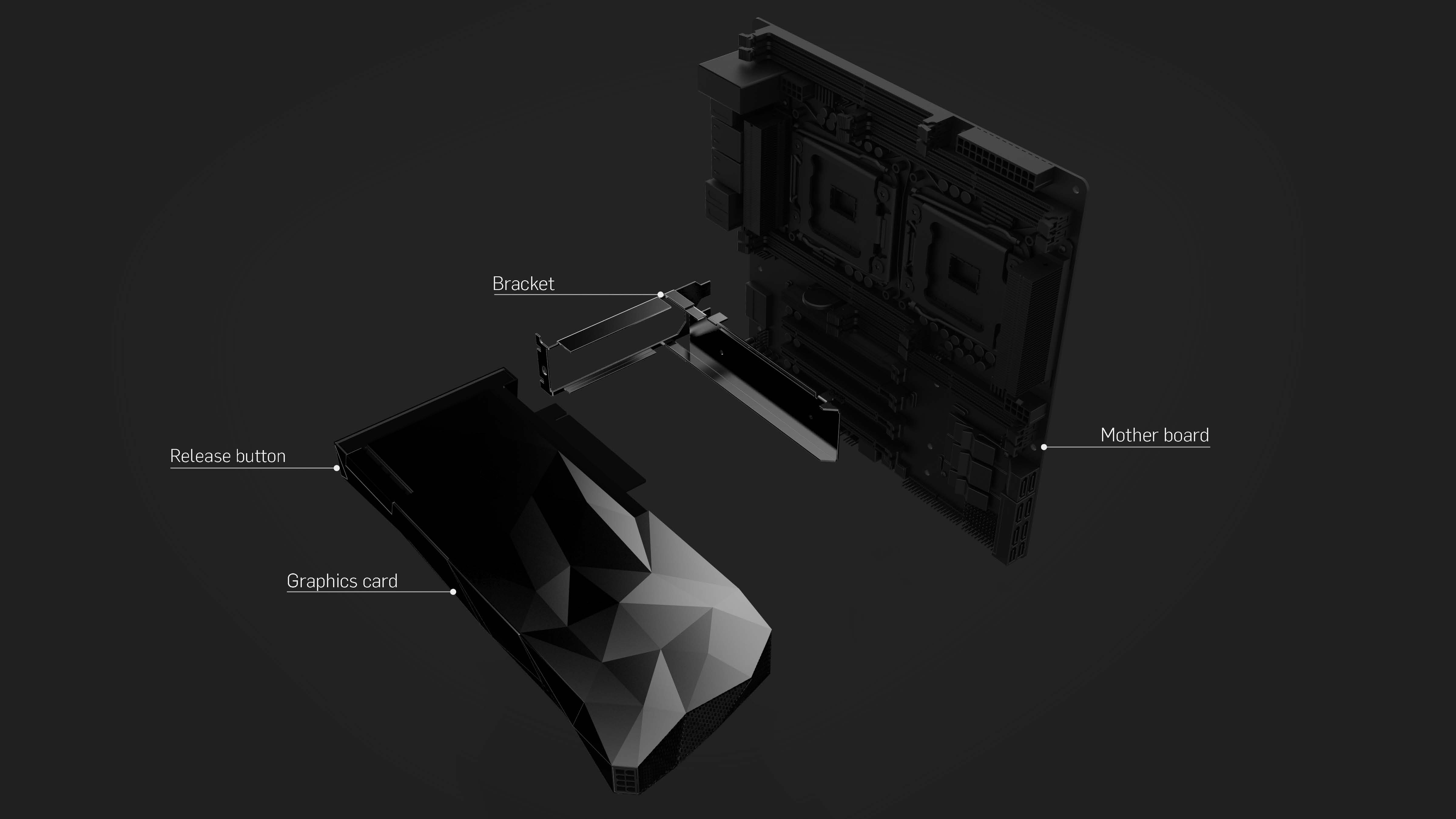 VISION Alpha GPU quick release bracket